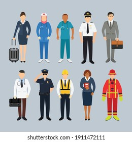 character People with different professions, vector illustration