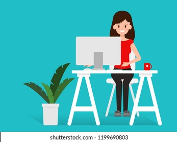 character people working or freelance job.