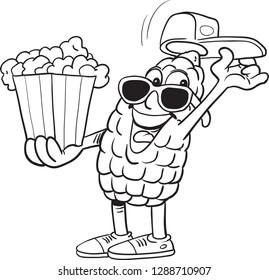 Character Popcorn mascot