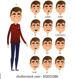 Character ready for animation. Animation mouth
