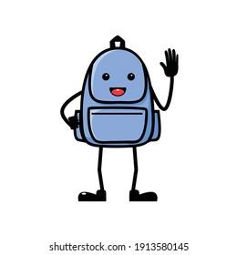 character school bag, mascot bag