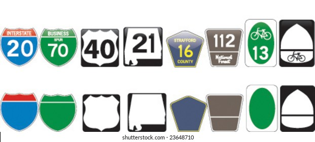 Character set for a highway