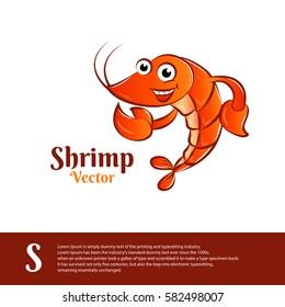character shrimp vector. illustration