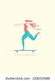 character skateboard vector