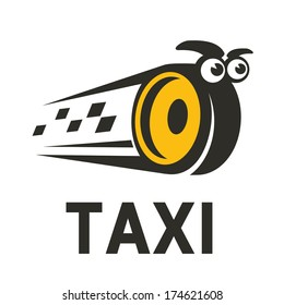 Character taxi logo design template