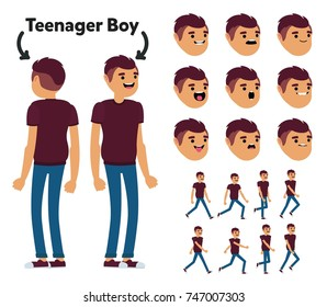 Character is a teenager boy. The character is ready for animation. Walk Animation.