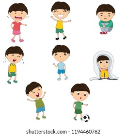 character of various expressions of children