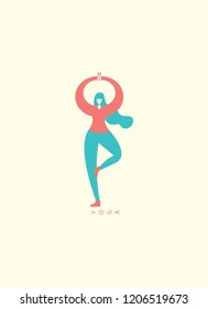 character yoga vector