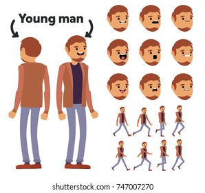 Character is a young man. The character is ready for animation. Walk Animation.