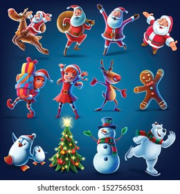 characters for Christmas graphics vector