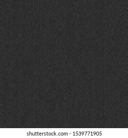 Charcoal Black Faux Denim Texture Background. Dark Plain Chambray Seamless Pattern. Close Up Textile Weave for Classic Work WearJeans Fabric Effect. Dyed Men Fashion Apparel. Vector EPS10 Repeat Tile