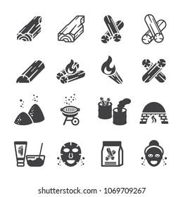 Charcoal icon set