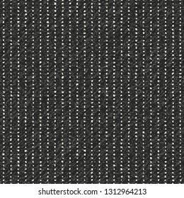 Charcoal Pin Checked Melange Textured Background. Seamless Pattern.