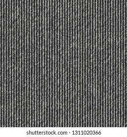 Charcoal Pin Striped Melange Textured Background. Seamless Pattern.
