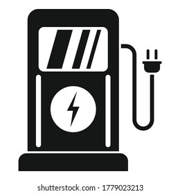 Charge eletric station icon. Simple illustration of charge eletric station vector icon for web design isolated on white background