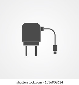 Charger adapter vector icon sign symbol