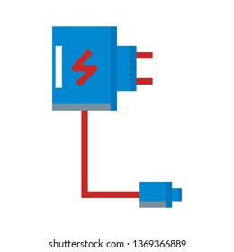 Charger, Charging, Electricity Flat Style Icon Vector - Vector