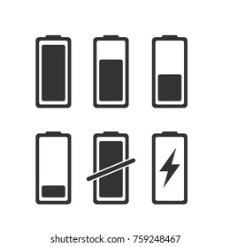Charger phases illustration. Simple flat icons set