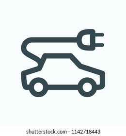 Charging electric car concept vector icon