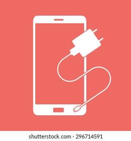 Charging mobile symbol icon