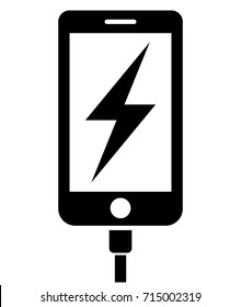 Charging phone icon