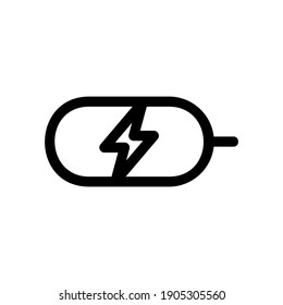 charging station icon or logo isolated sign symbol vector illustration - high quality black style vector icons