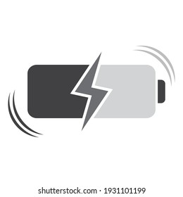 Charging symbol, web and computer icon