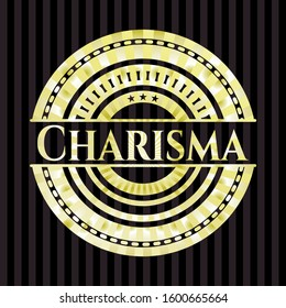 Charisma golden emblem or badge. Vector Illustration. Detailed.