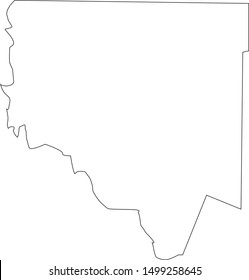 Chariton county map in missouri state