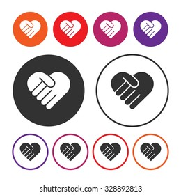 Charity and Donate icon. Donate sign. Vector Illustration