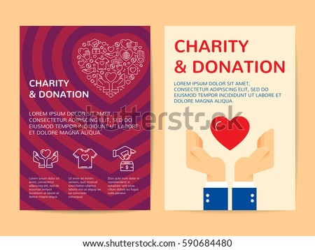 charity donation banner design template vector stock vector royalty