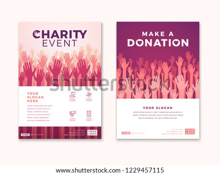 Charity Donation Poster Design Templates Card Stock Vector Royalty