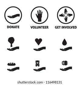 Charity Icon Pack - Donate, Volunteer, Get Involved