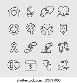 Charity line icon