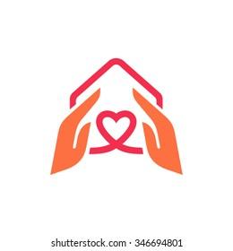 Charity logo design template