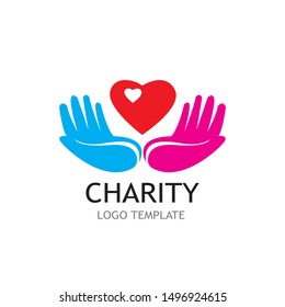 charity logo vector illustration template