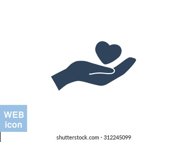 charity web icon. vector design