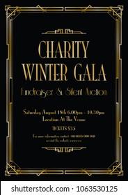 charity winter gala background