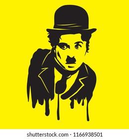 Charlie Chaplin illiustration vector