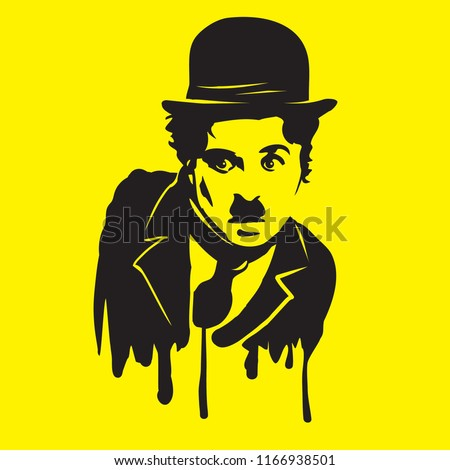 Charlie Chaplin illiustration vector