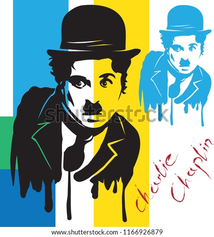 charlie chaplin vector illiustration