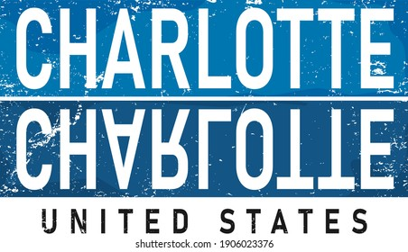 Charlotte city name.Modern Calligraphy Hand Lettering for Printing,background ,logo, for posters, invitations, cards, etc. Typography vector.