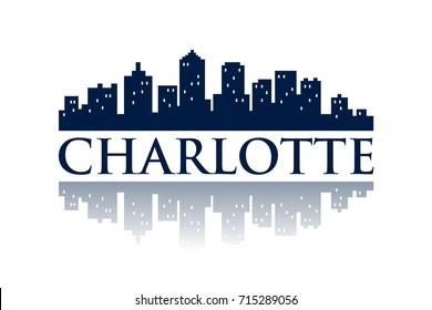 charlotte skyline city logo