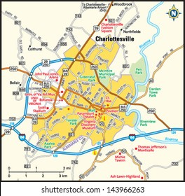 Charlottesville, Virginia area map