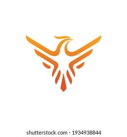 Charming Phoenix Modern Flaming Flying Phoenix Fire Bird Abstract Luxury Graphic Resource Logo