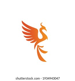 Charming Phoenix Modern Flaming Flying Phoenix Fire Bird Abstract Luxury Graphic Resource Logo