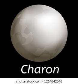 Charon icon. Realistic illustration of charon vector icon for web design