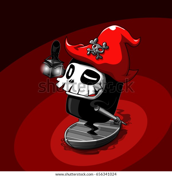 Charon Messenger Death Charon Greek Mythology Stock Vector
