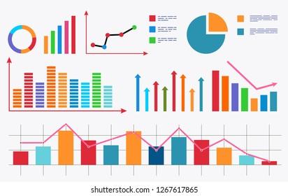 Chart. Analytical data. Vector stock illustration