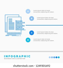 chart, data, graph, reports, valuation Infographics Template for Website and Presentation. Line Blue icon infographic style vector illustration